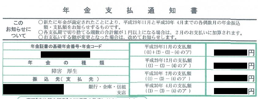 年金支払通知書