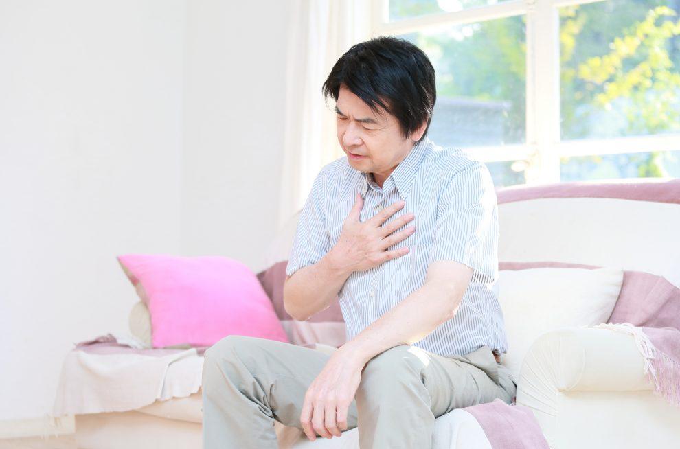 心疾患の男性